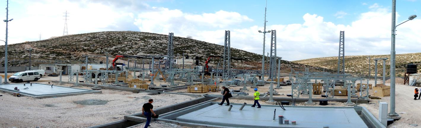 صورة بانورما لمحطة تحويل الكهرباء ترقوميا