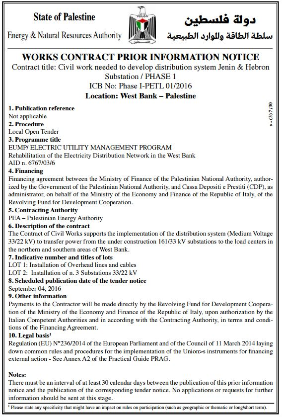 civil work tender 2