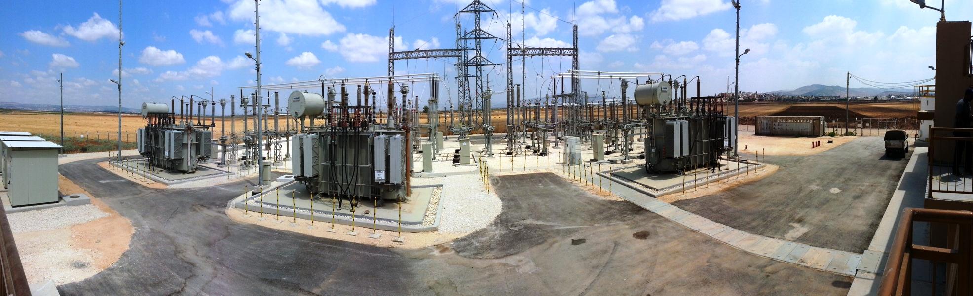 صورة بانورما لمحطة تحويل كهرباء جنين (الجلمة)